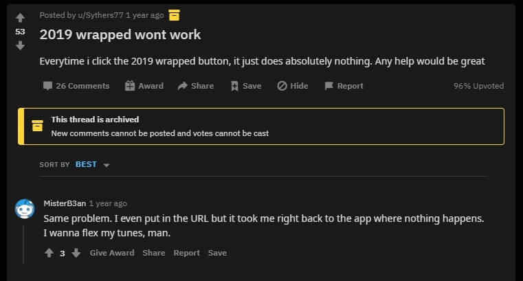 spotify wrapped 2019 not working