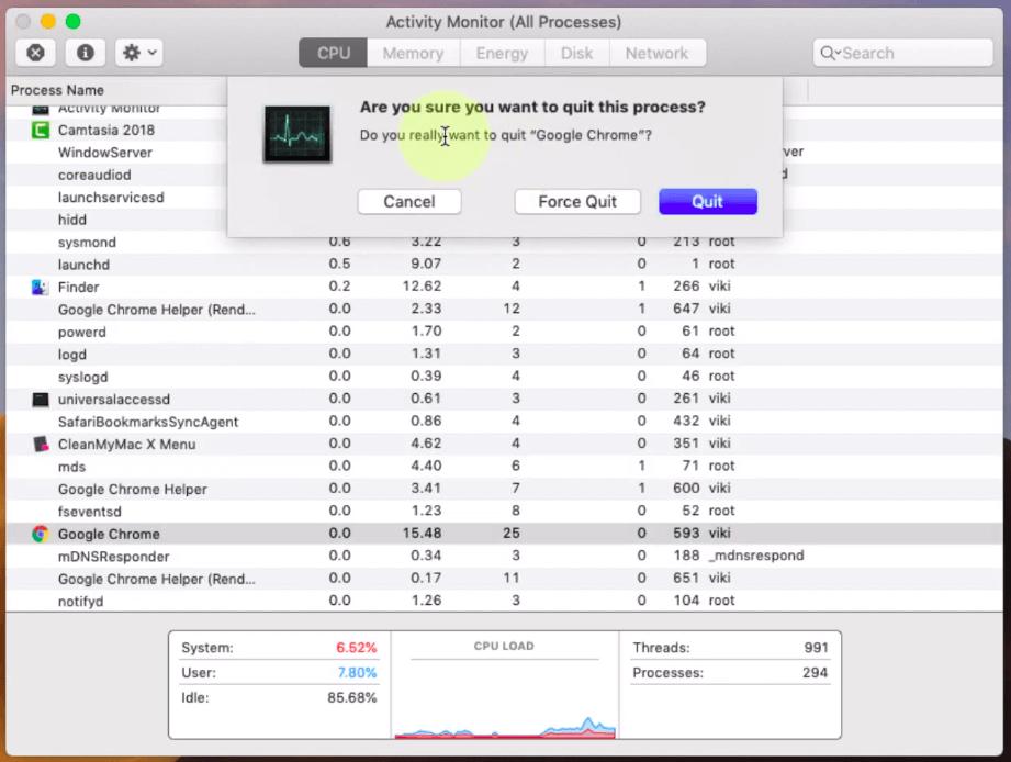 control alt delete mac